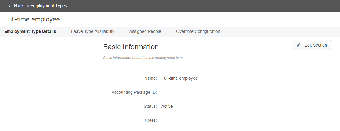 Adding Editing Employment Types Clicktime Support