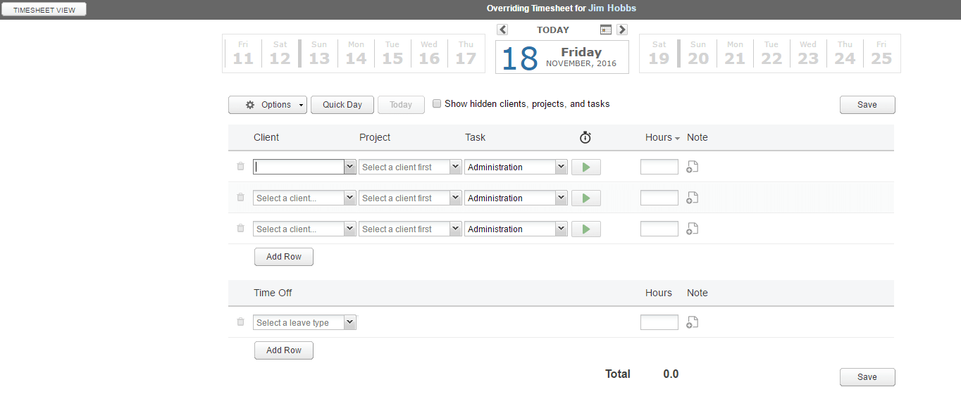 override timesheets editing another timesheet clicktime support